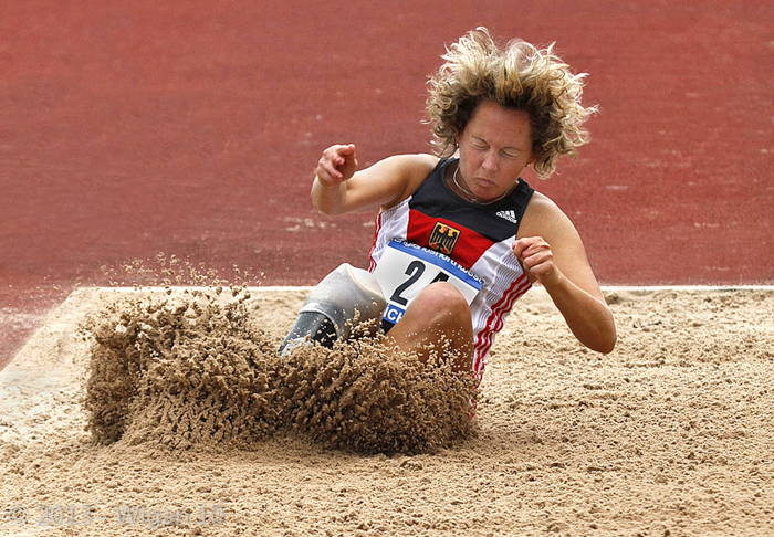 Paralympic long jumper