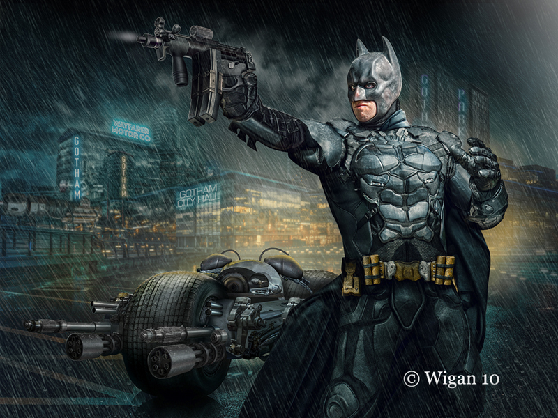 Dark Knight in Gotham by Phil Barber