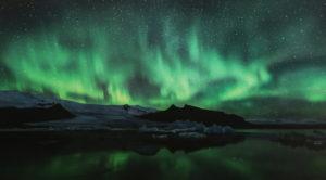 Icelandic Aurora Over Fjallsarlon